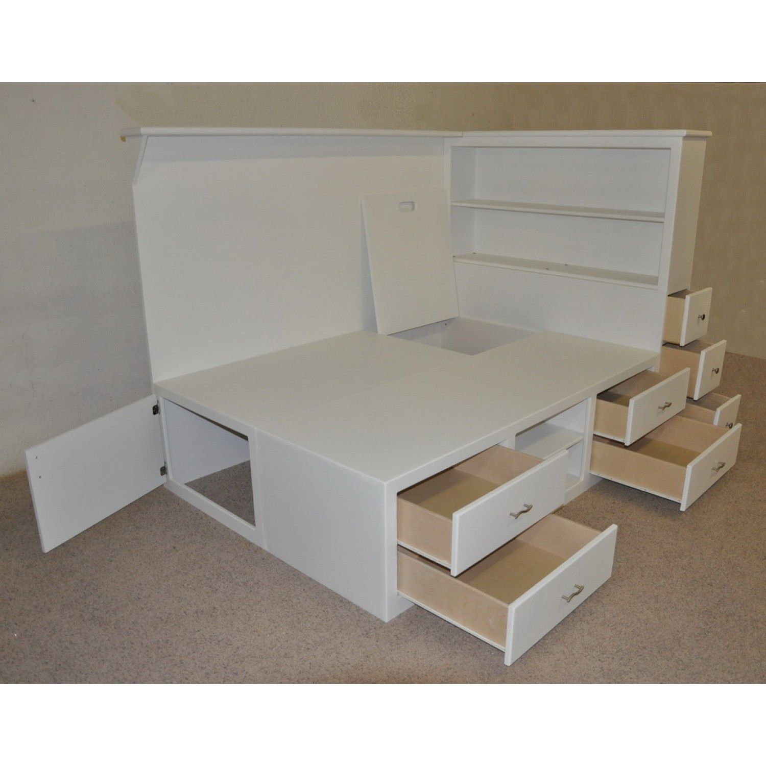 Diy Platform Bed Base Teen Beds With Storage Underneath Drawers Multiple