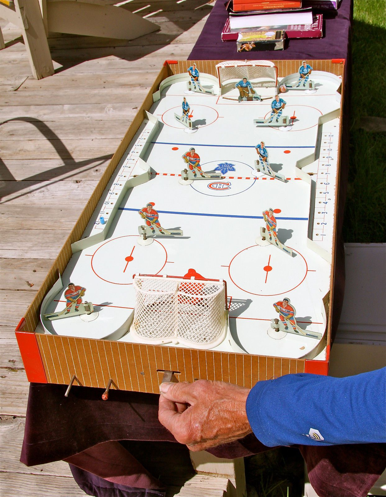 Eagle toys vintage table hockey game nhl pro canadians near mint with box