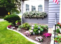 Flower Bed Ideas For Front Of House Back Front Yard ...