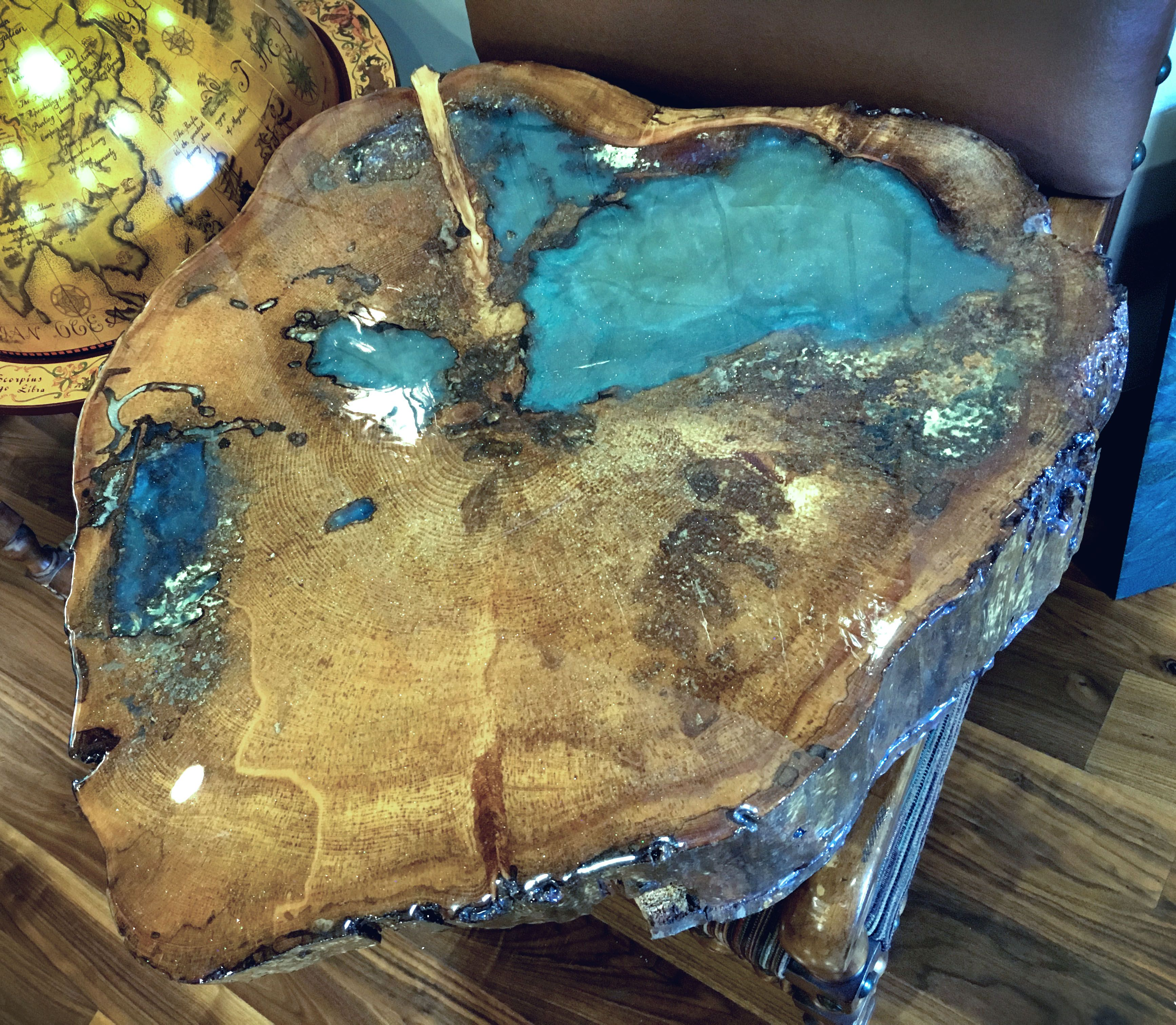 Countertop Epoxy Com Epoxy Wood Piece Beautifully Functional Resin Art