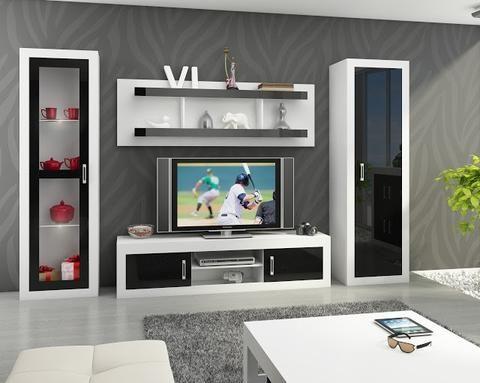 Living Room Furniture Set 4 u0027u0027Verinu0027u0027 including TV Cabinet - living room display cabinets