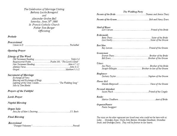 memorial service programs sample This is what your template 1 - sample program templates