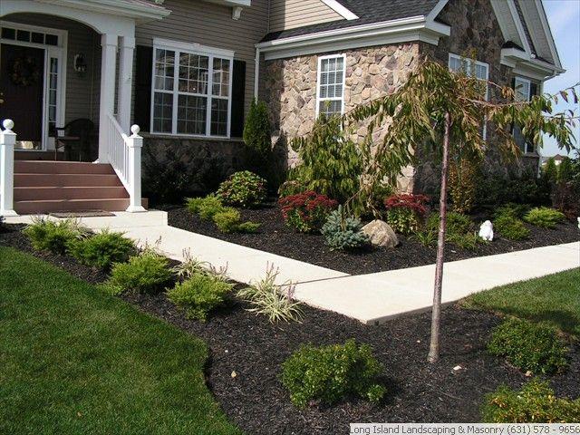 Landscaping front sidewalk