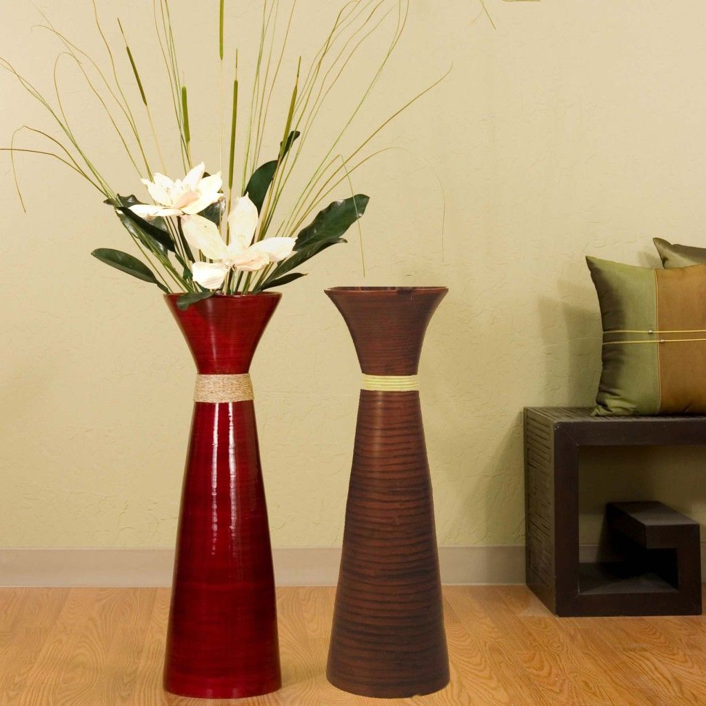 Tall Vases Home Decor Choosing Best Floor Vases Beautiful Red Ceramic Floor