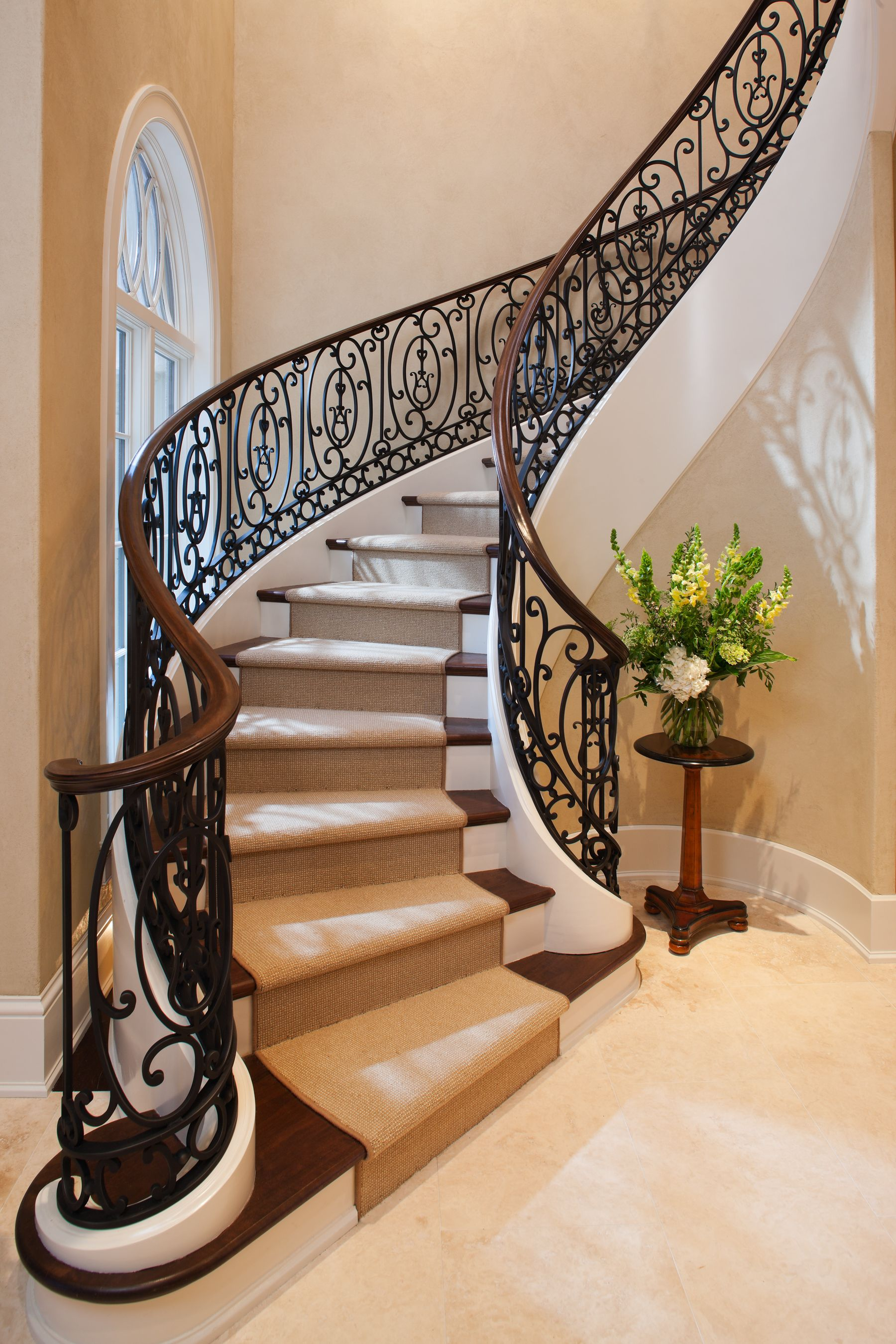 Wrought Iron Staircase Designs Custom Staircase Design For A French Manor Beautiful