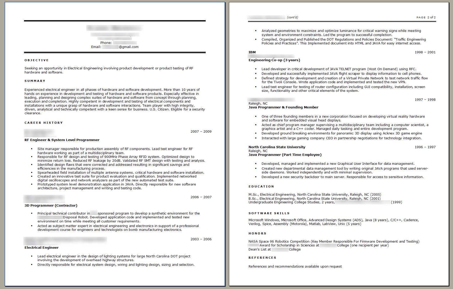Standard Resume Format In Singapore – Resume Format Singapore
