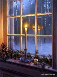 Darrell Bush Warm Reflections   Reflection, Cabin and Window