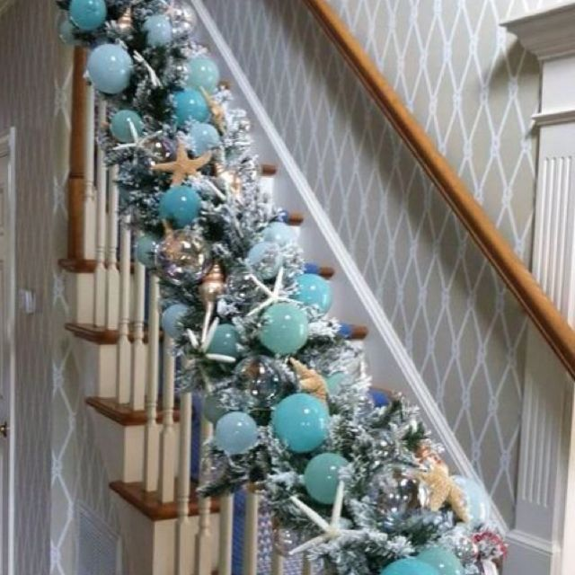 Beach Christmas garland! Sister, look at this, great for your - coastal christmas decorations