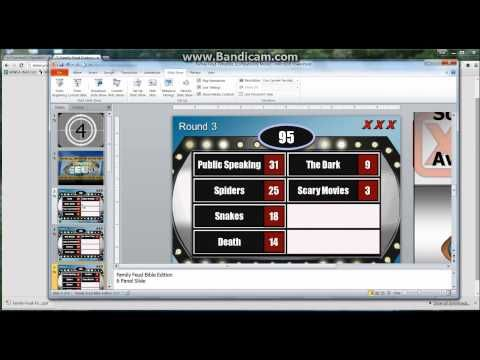 Family Feud Customizable Powerpoint Template - Youth - family feud power point template