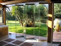 Contemporary Natural Accordion Glass Door Design With ...