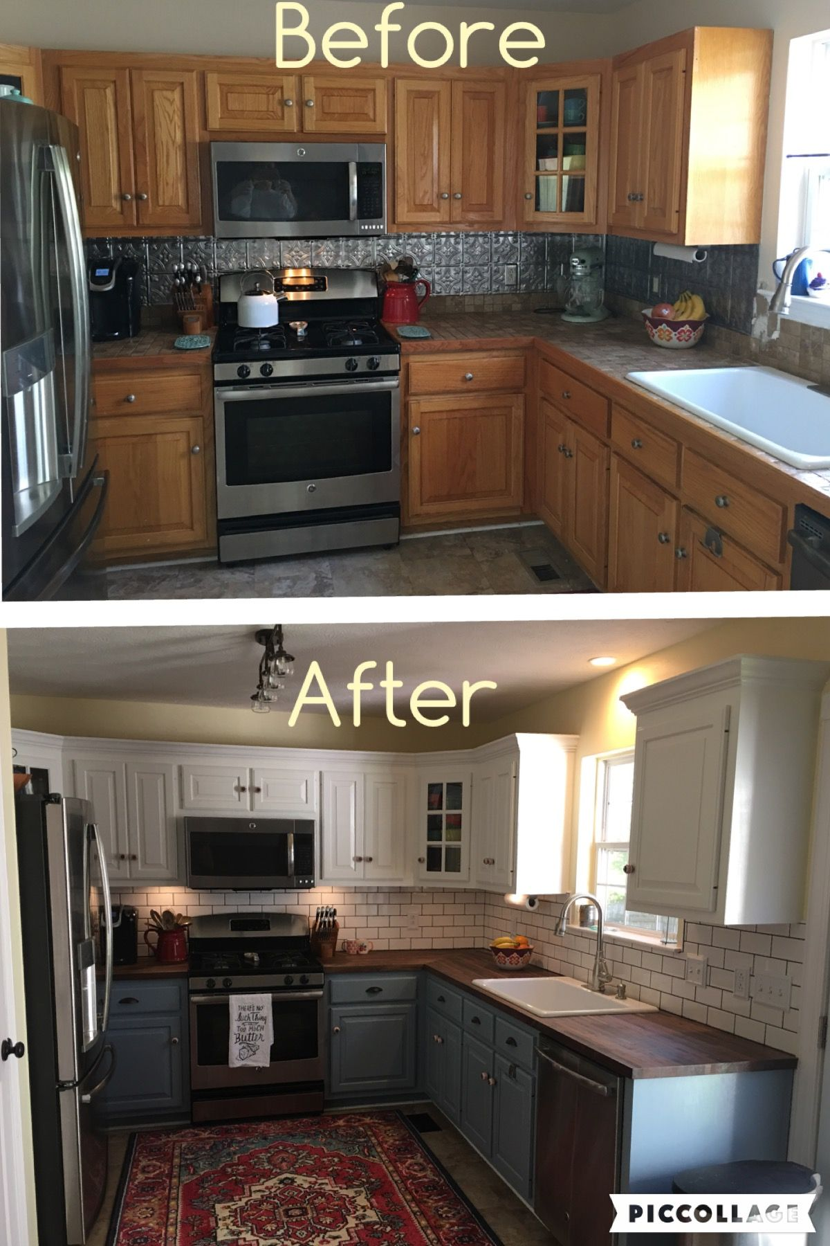Can t wait to remodel my kitchen two toned cabinets valspar cabinet enamel from lowes successful kitchen updating best cabinet paint by far