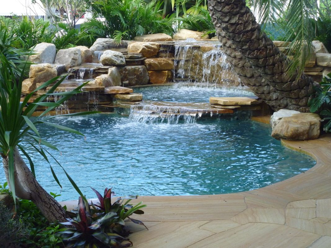 Jacuzzi In Pool Pools With Waterfalls Waterfalls Into Pool Jacuzzi