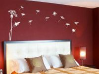 Red Bedroom Wall Painting Design Ideas | Wall mural ...