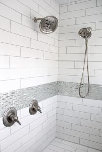 Tiled Shower Walls: Angora Soho, White, 4x16; Shower ...