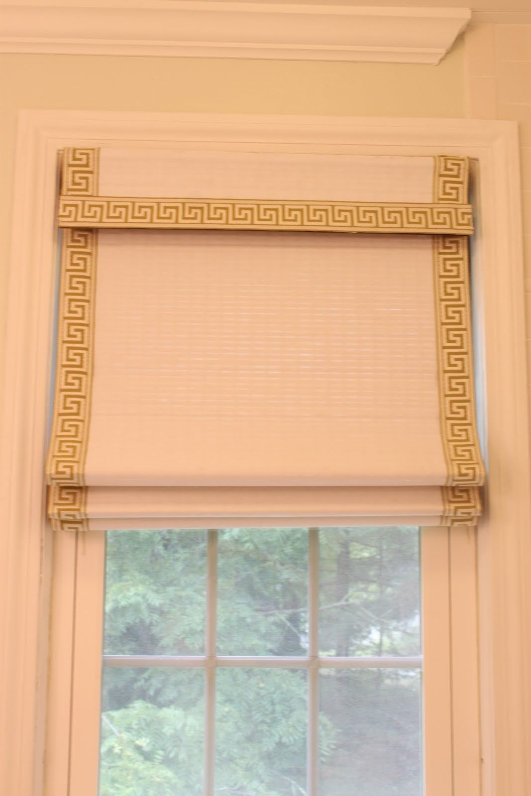 Diy Roman Shades For French Doors Diy Roman Shade Made From Bamboo Shade Projects