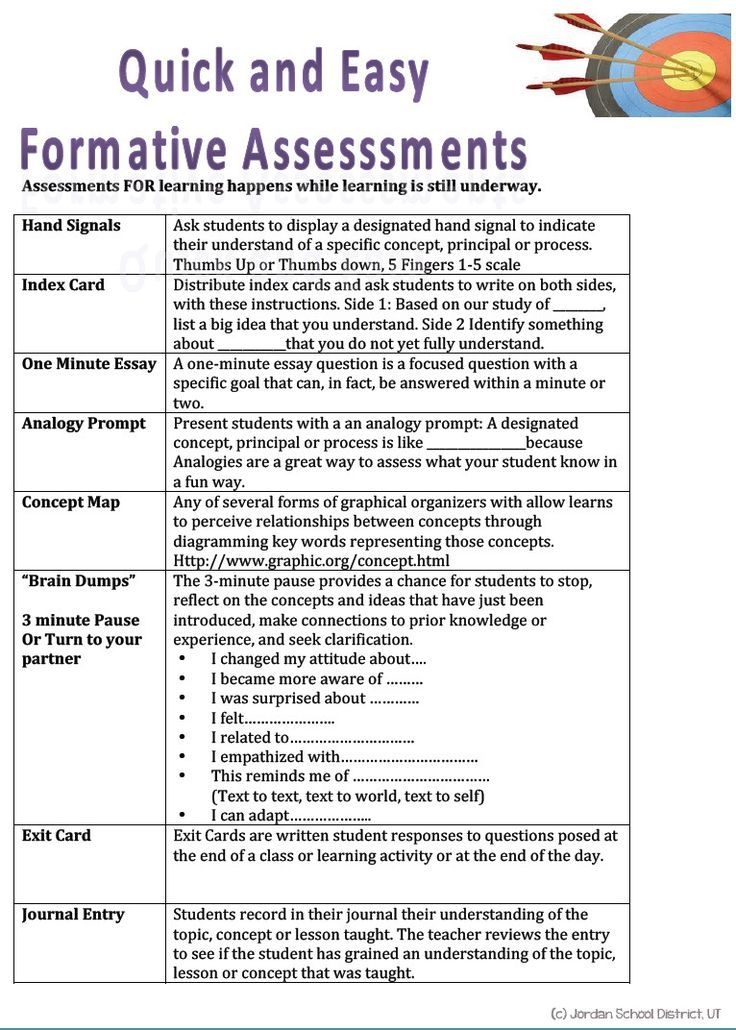 Quick \ Easy Formative Assessment It is better to Copy\/Paste - formative assessment strategies