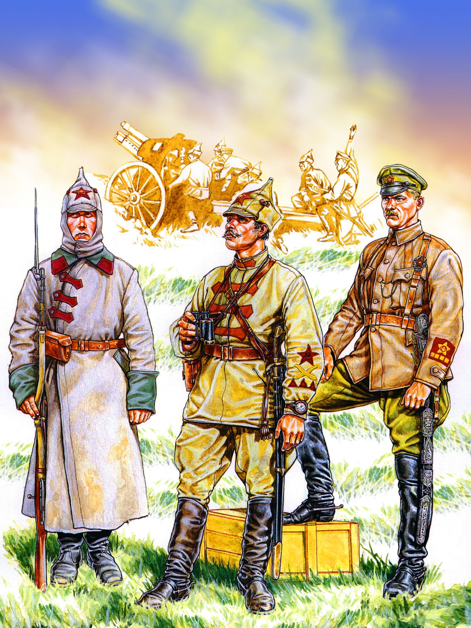 Polster Hocker Red Army Riflemen, Russian Civil War | Russian Revolution