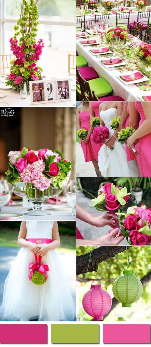 Captivating 2017 Pink Yarrow Color Combos Summer Wedding Colors Rustic Summer Wedding Colors Lime Green Spring Pink Yarrow G Summer Wedding Color Inspiration Wedding Colors Trends