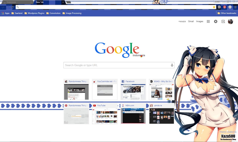 We got another hestia google chrome theme today and this dungeon ni deai wo motomeru no