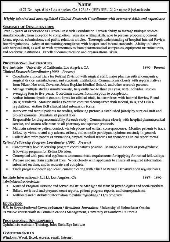 Making Clinical Research Associate Resume is sometimes not easy - clinical research resume