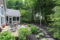backyard landscaping on wooded lot - Google Search ...