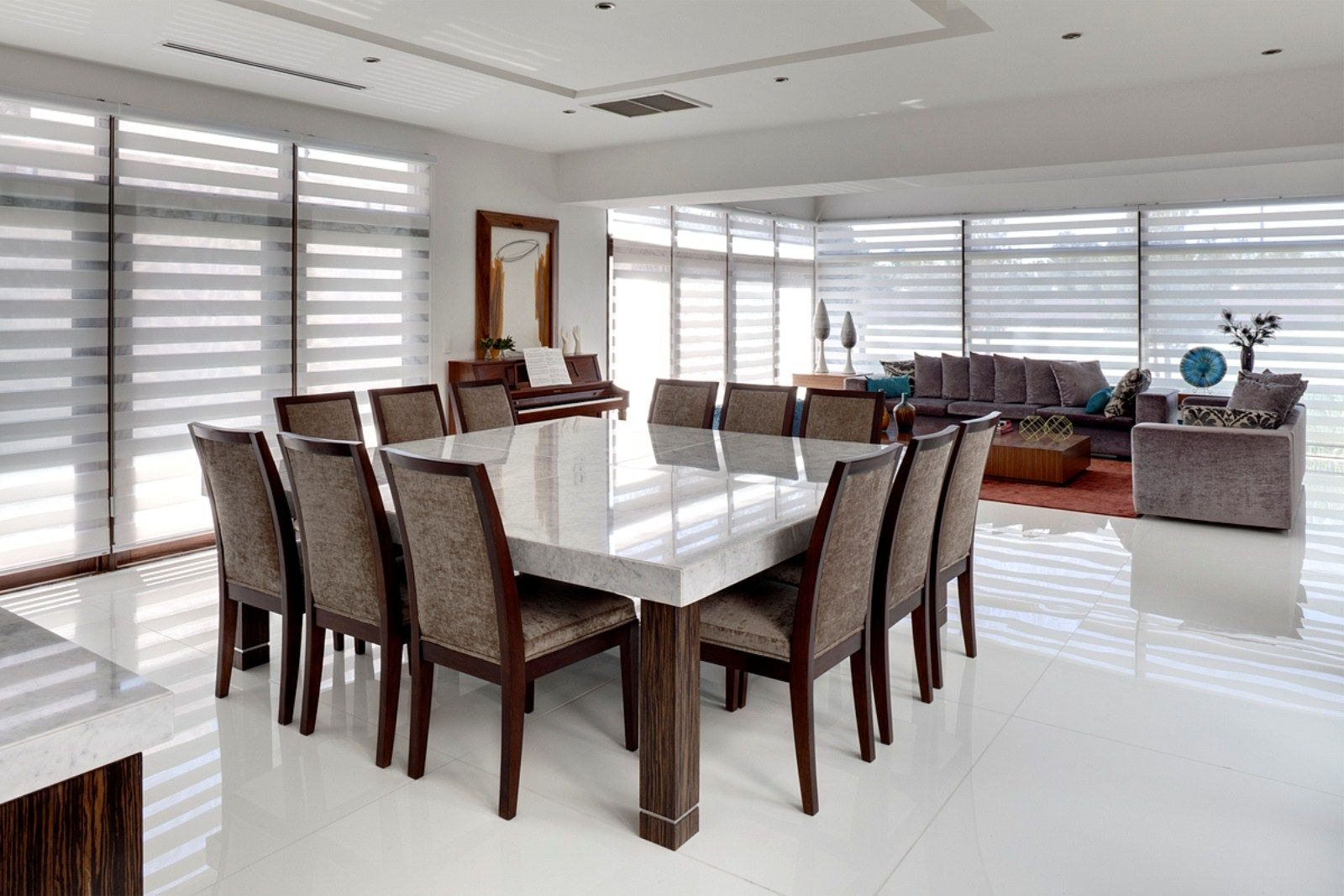 Large square dining table seats