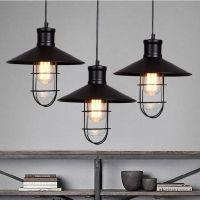 black rustic pendant lights vintage industrial pendant ...