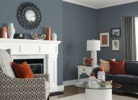 Living Room in Glidden's French Grey 70BG 19/071 | Color ...