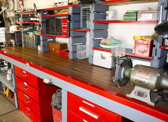 You know what I like best about this workshop? The space to - home workshop ideas
