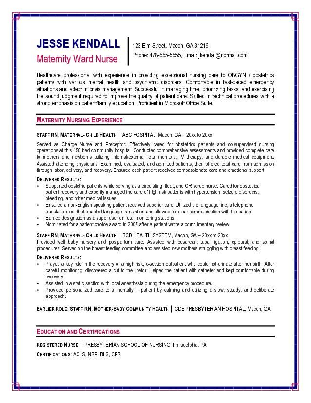 how to write a nursing resume free rn resume template nurse - example of registered nurse resume