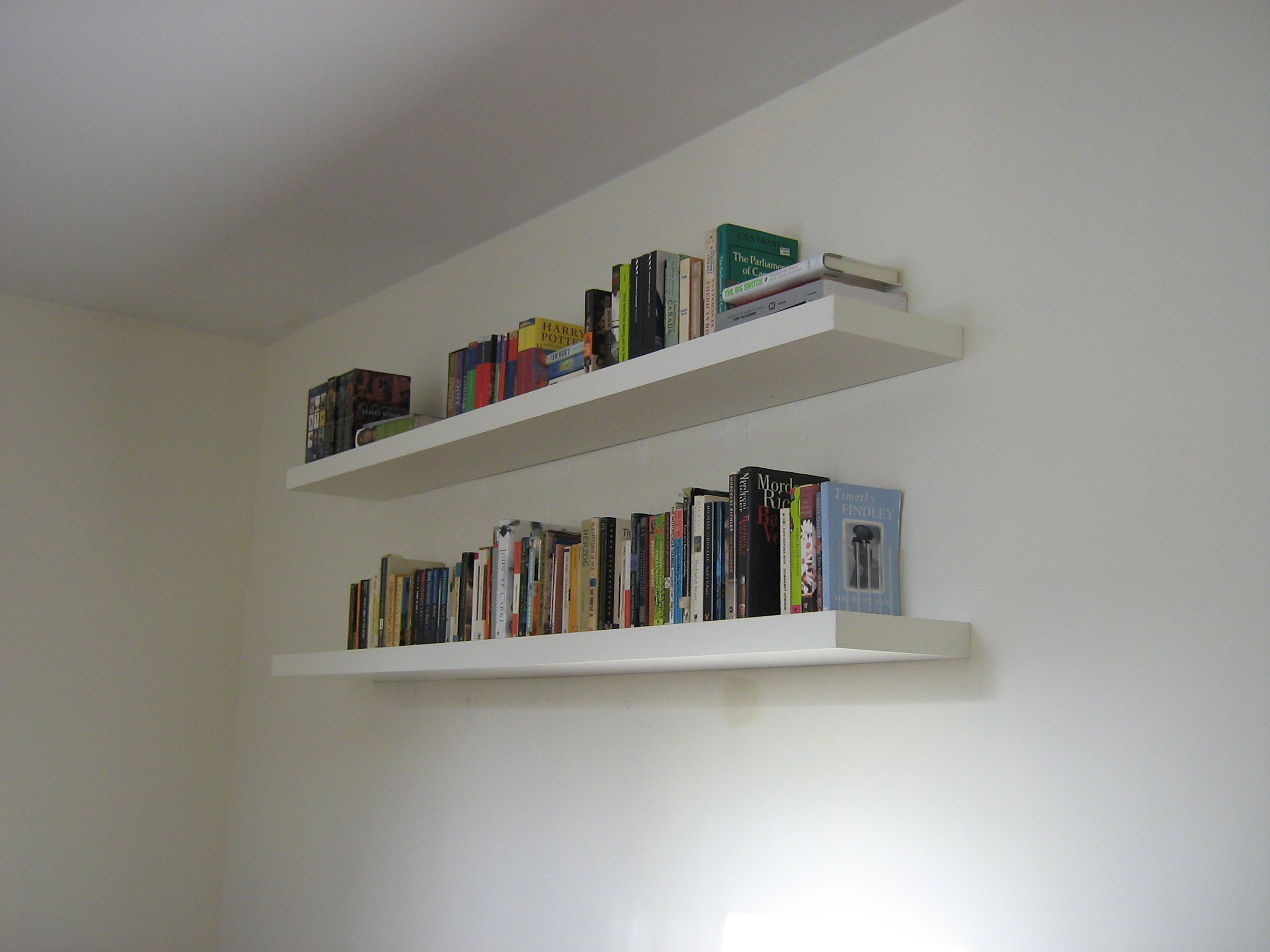 Bookshelves On Wall Book Wall Shelves Gallery With Design Enhancement