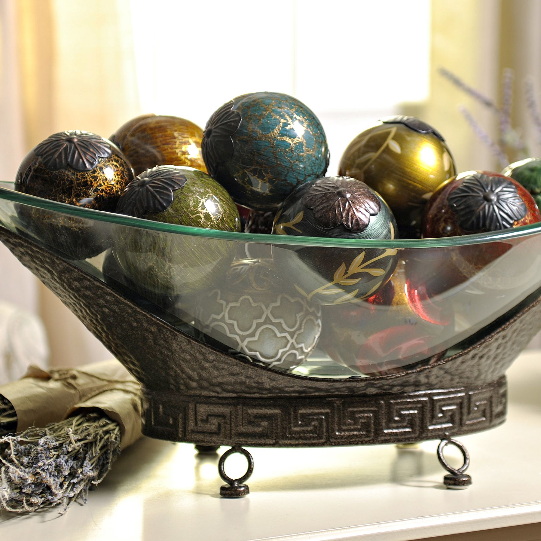 Metal Centerpiece Bowl Oversized Bronze Bowl Decorative Items Bowls And Display
