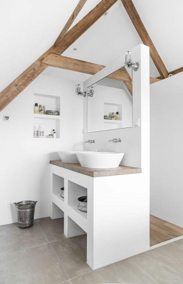gestaltung badezimmer kleines bad holzbalken rustikal Bathroom - gestaltung badezimmer nice ideas