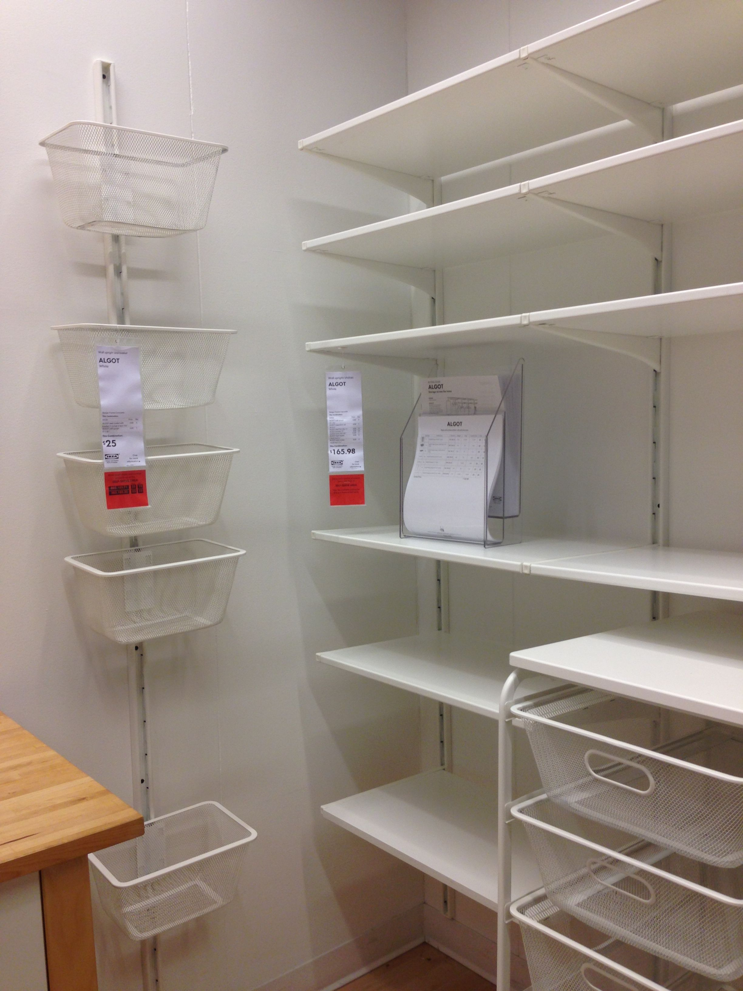 Ikea Küche Organisation Algot Pantry Organization Storage Abstellraum