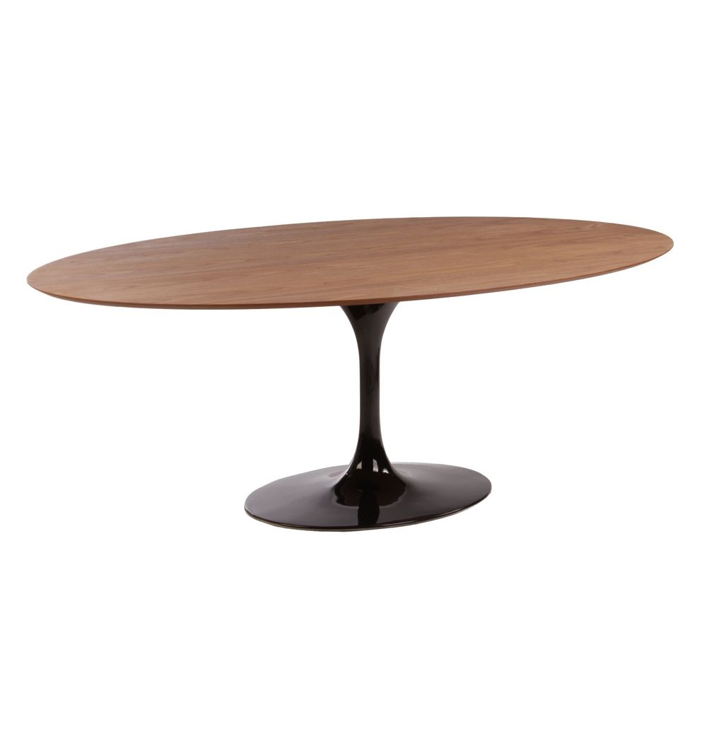 oval kitchen table Replica Eero Saarinen Tulip Dining Table Oval Timber by Eero Saarinen Matt Blatt