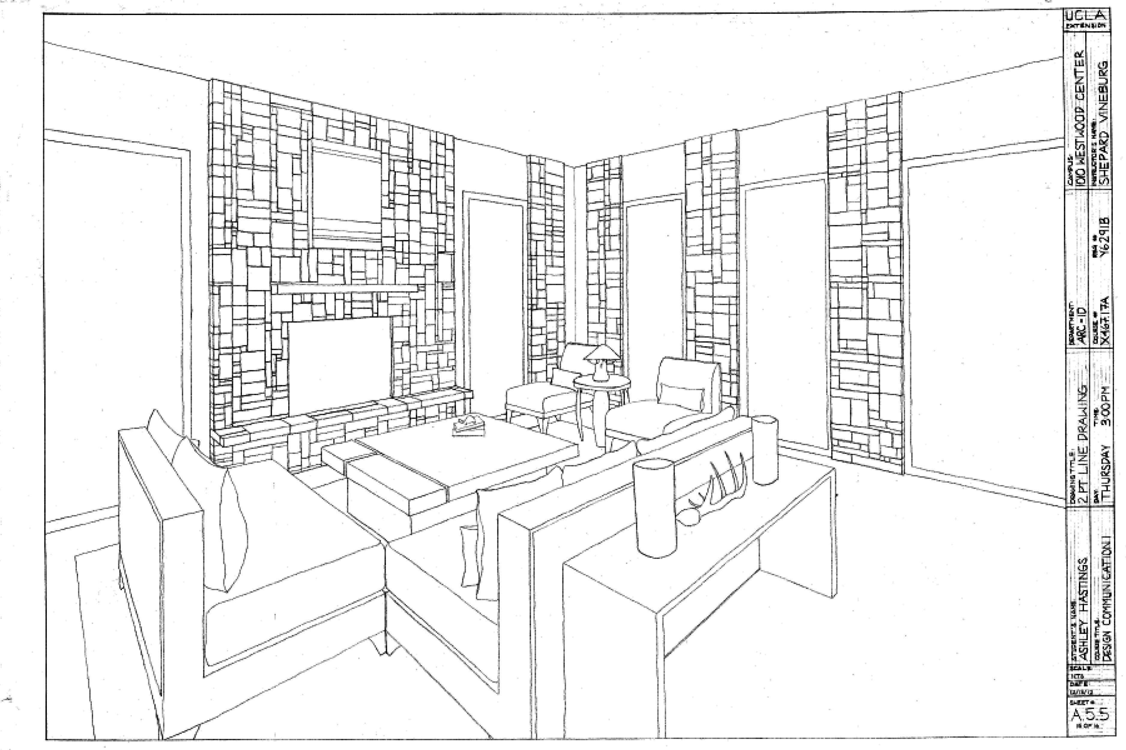 Drawing A Room Plan Two Point Perspective Drawing Room Google Search
