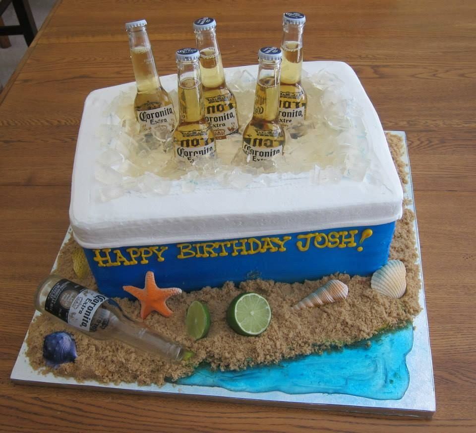 Kühlschrank Kuchen Ice Chest Of Coronas In A Cooler Cake, Beer And Cake? Does