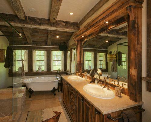 rustic bathroom ideas reclaimed timber vanity base in this - western bathroom ideas