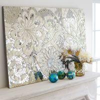 Floral Capiz Mosaic Wall Panel | Mirror tiles, Indonesia ...