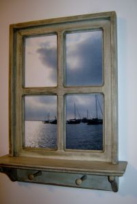 "Shabby Chic Hand Crafted Faux Window Picture Frame, 20"" x ..."
