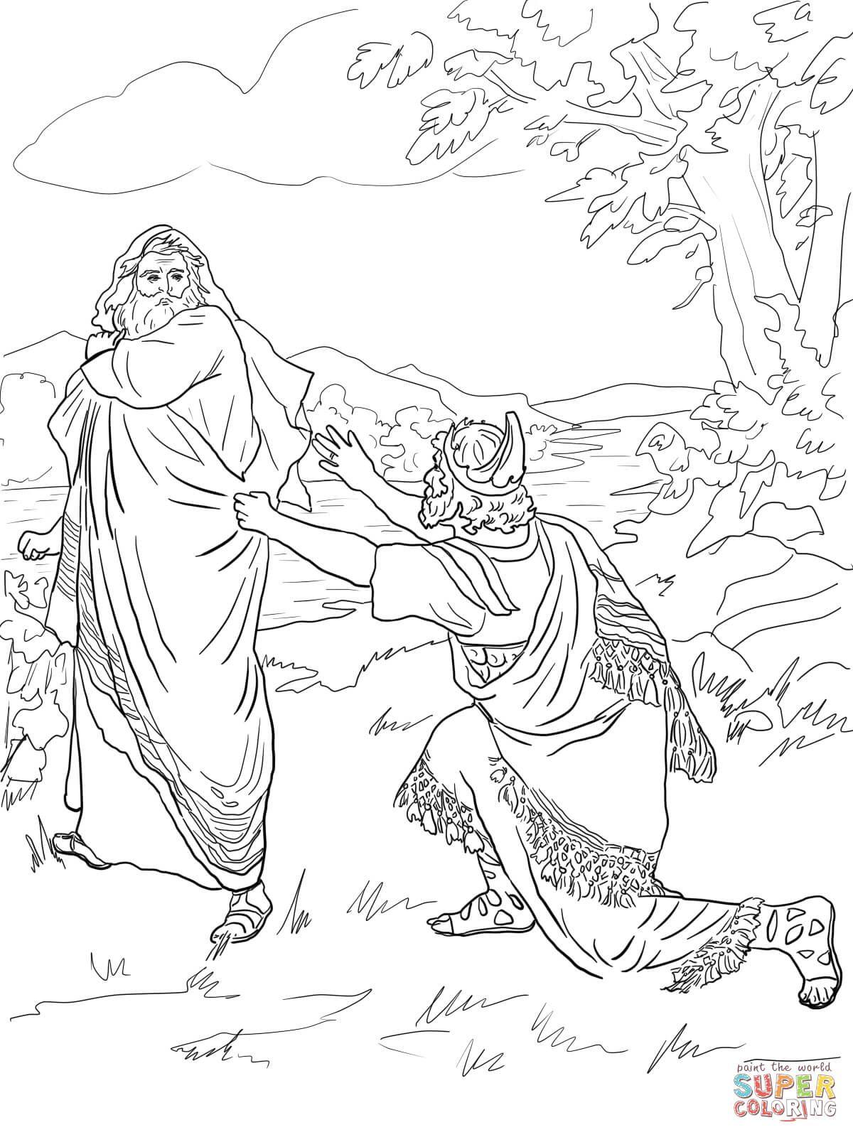 free coloring page david and jonathan