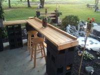 Cinder block patio bar -Janice Lininger   Bar   Pinterest ...