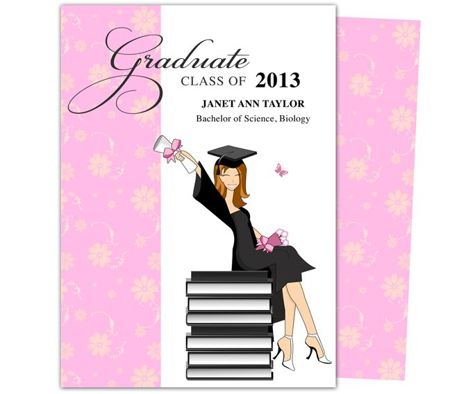 Printable DIY Grad Announcements  Feminine Wealth Design - invitation templates microsoft word