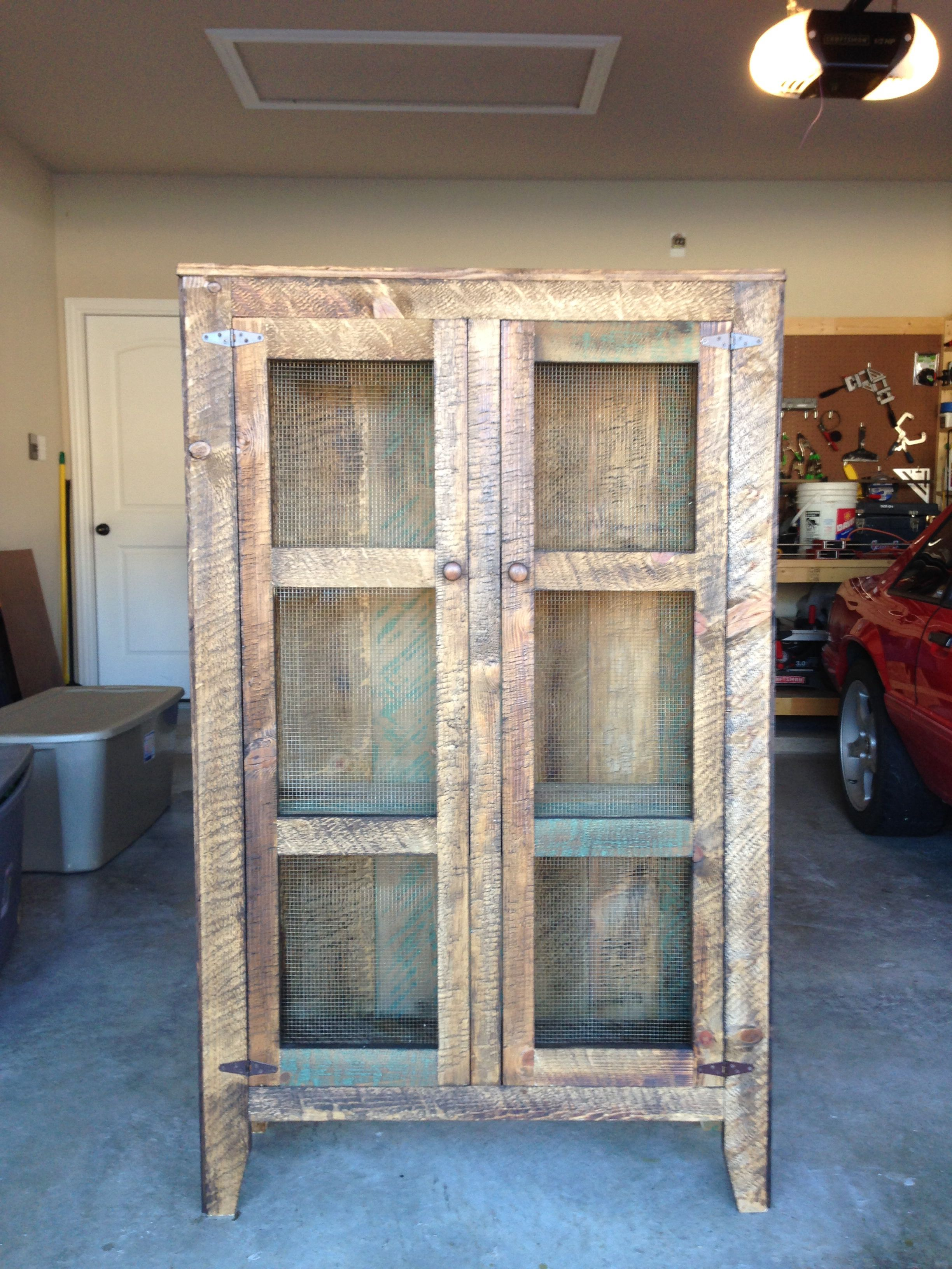 Barn Board Kitchen Cabinets Pie Safe Made From Old Barn Wood Home Decore Pinterest