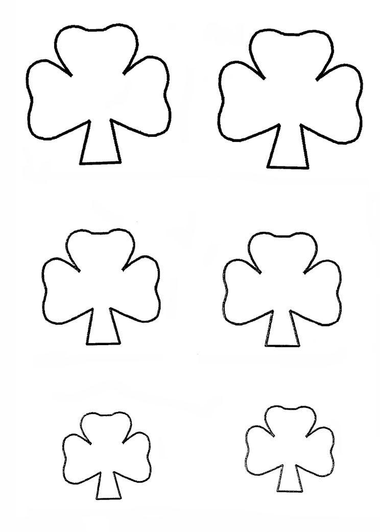 Shamrock template http\/\/wwweasy-child-crafts\/st-patricks-day - shamrock template