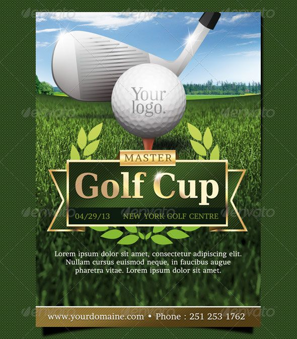 Golf event flyer template DESIGN Graphic Pinterest Flyer - golf tournament flyer template