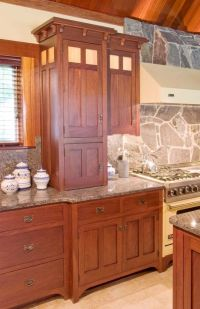 Mission Style Kitchen Cabinets | Top cabinet doors are a ...