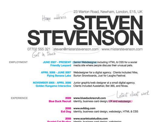 How To Create A Great Web Designer Résumé and CV? Resume, Resume - resume website design