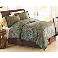 blue+paisley+bedding+sets | ... Homes And Garden Teal ...