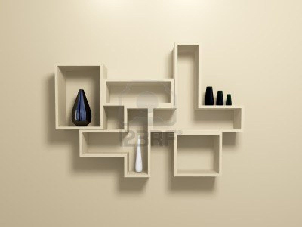 Modern Wall Shelving Chic Contemporary Wall Shelving Office Decor Pinterest